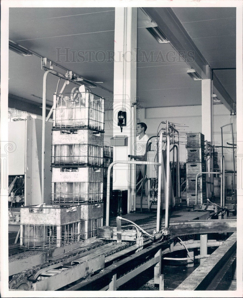 1965 St Petersburg Hood's Milk Inc Automated Conveyer Press Photo - Historic Images