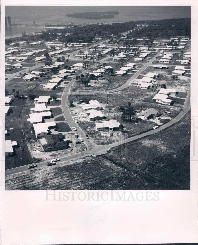 1963 St. Petersburg Florida Parade of Homes Stephenson Manor Aerial Press Photo - Historic Images