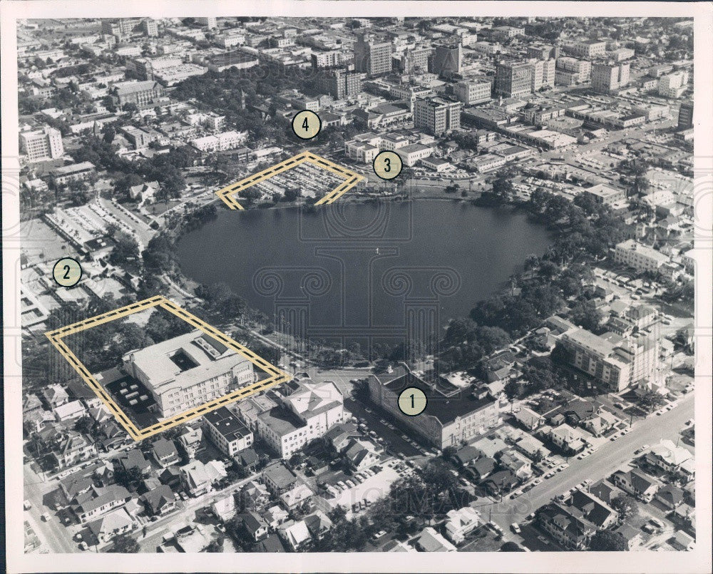 1964 St. Petersburg Florida State Office Building Site Aerial Press Photo - Historic Images