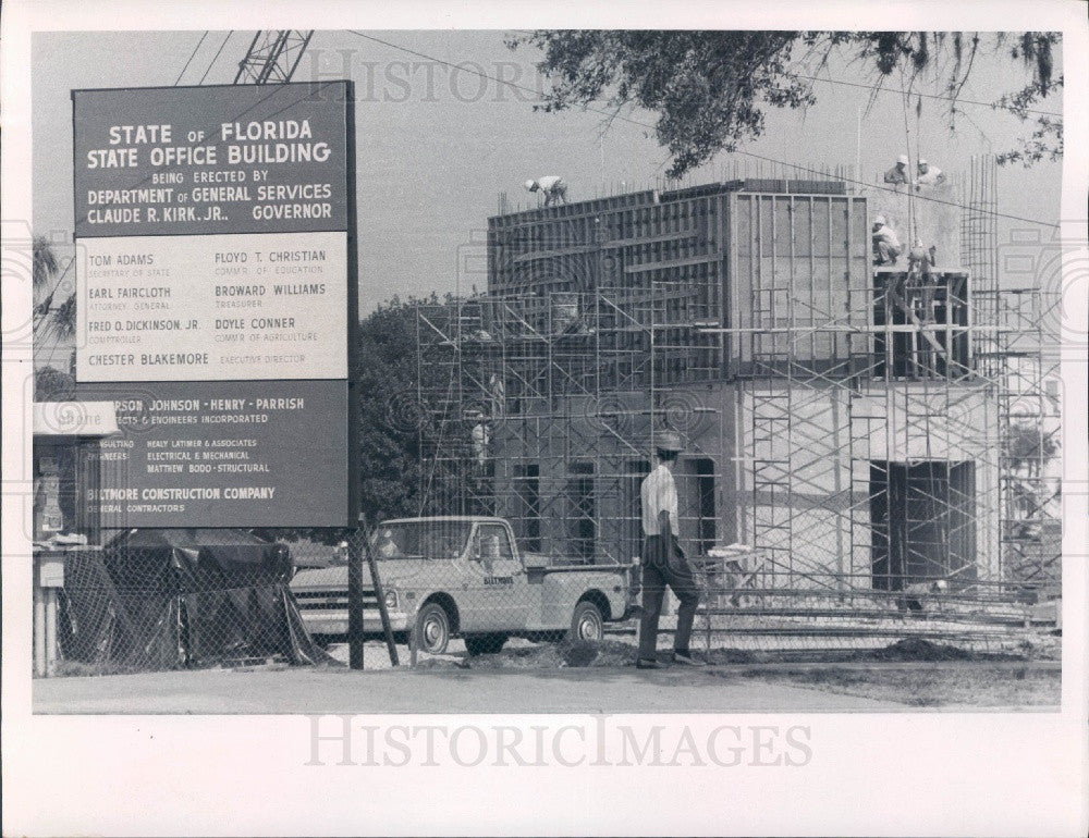 1970 St. Petersburg Florida State Office Building Construction Press Photo - Historic Images