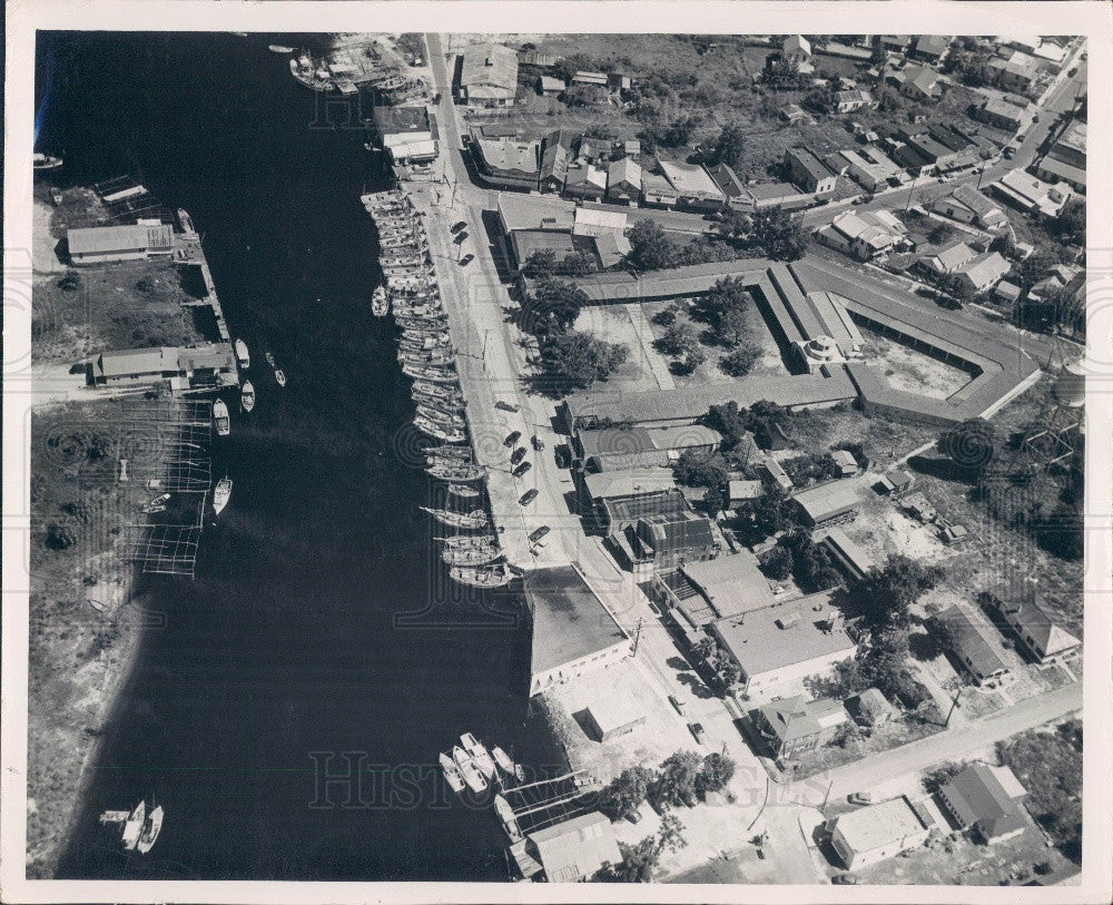 Undated Tarpon Springs Florida Fleet of Sponge Boats Press Photo - Historic Images