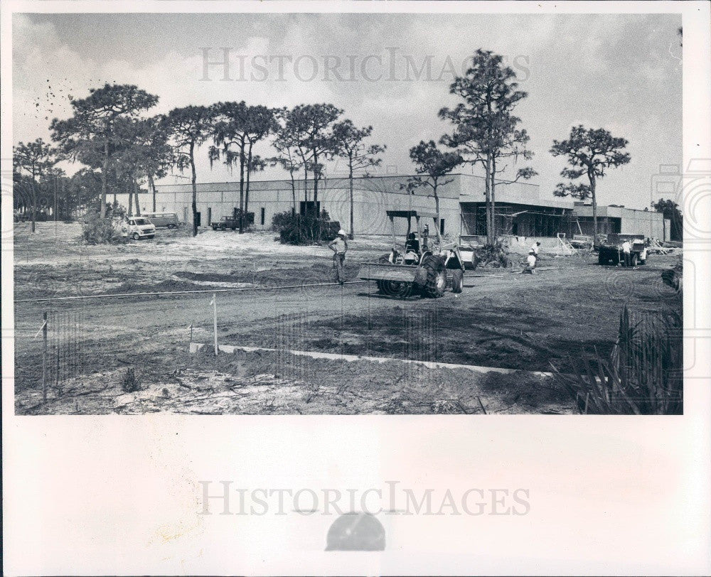 1976 Pinellas County Florida Sperry Microwave Construction Press Photo - Historic Images