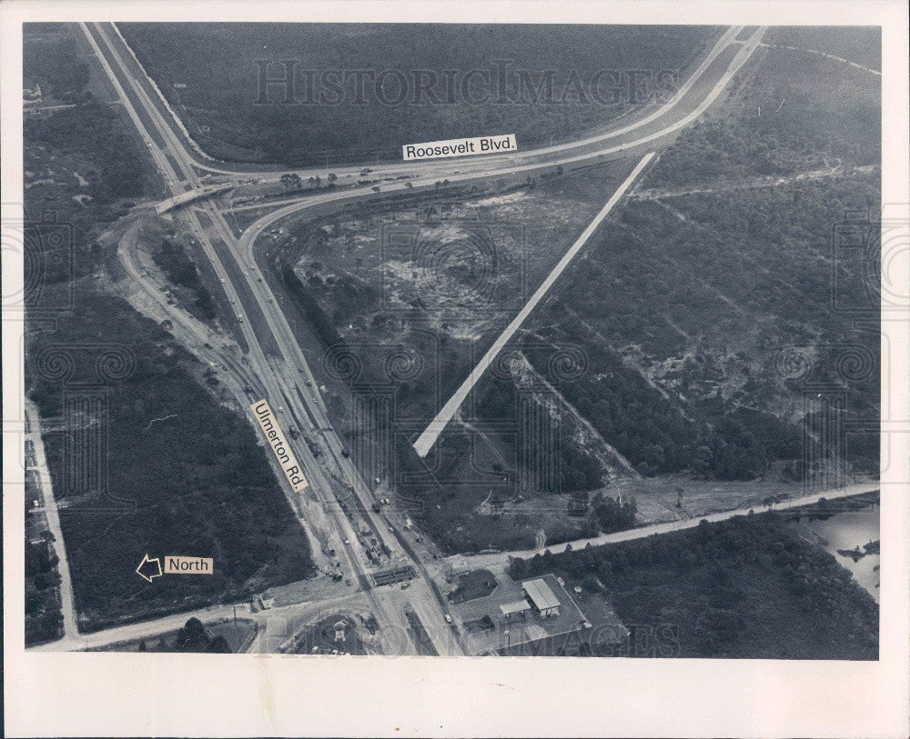 1976 Pinellas County Florida Sperry Microwave Site Aerial Press Photo - Historic Images