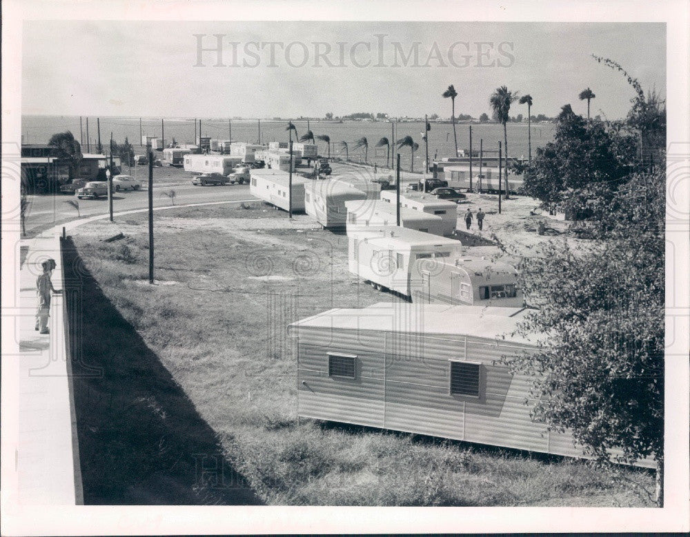 1956 Clearwater Florida Mobile Homes Show Press Photo - Historic Images