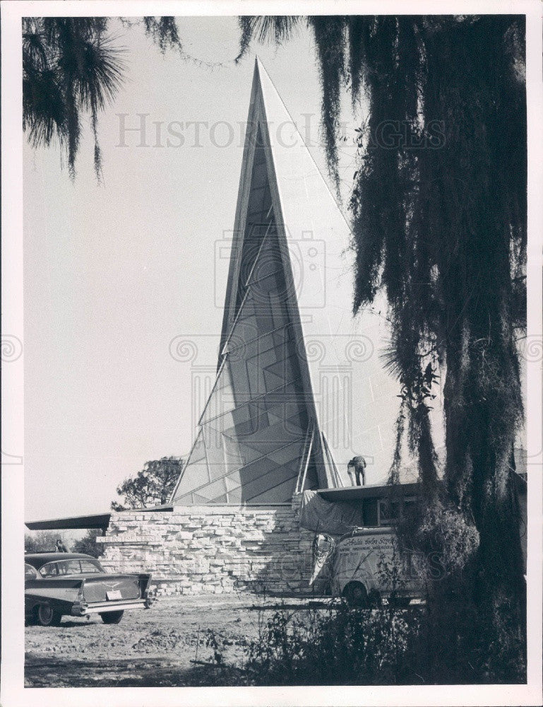1960 Clearwater Florida Church of Christ Press Photo - Historic Images