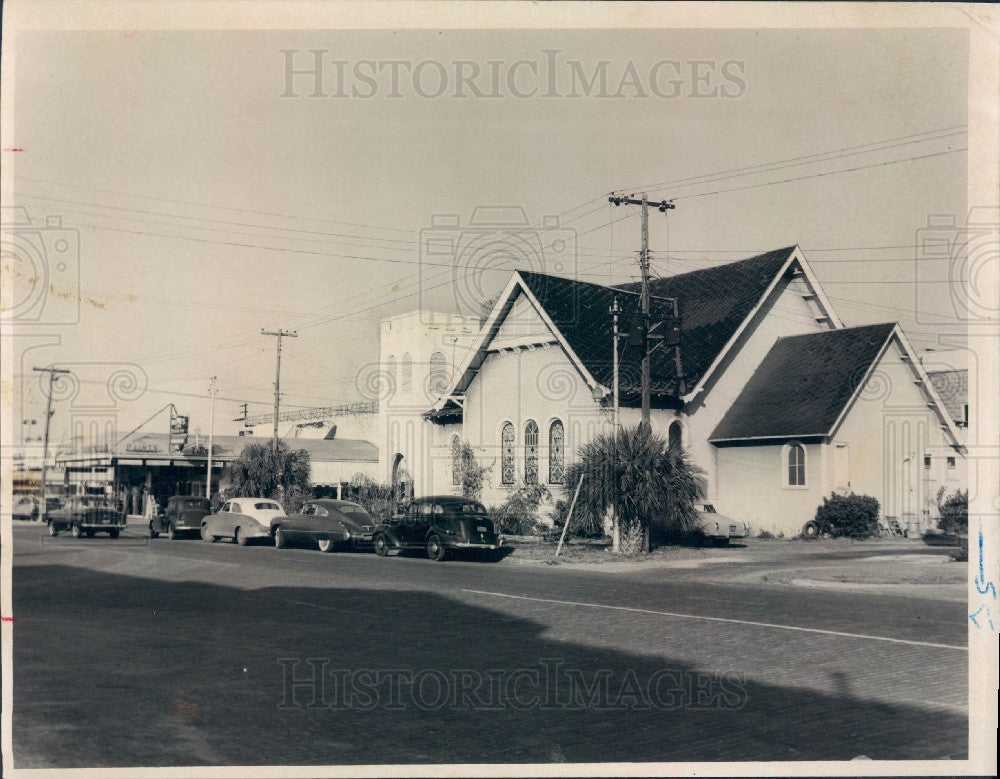 1955 St Petersburg Florida First Baptist Institutional Church Press Photo - Historic Images