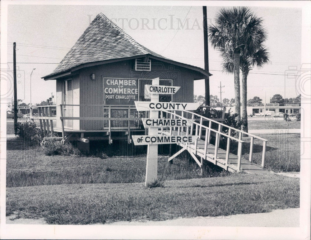 1972 Charlotte County Florida Chamber of Commerce Building Press Photo - Historic Images