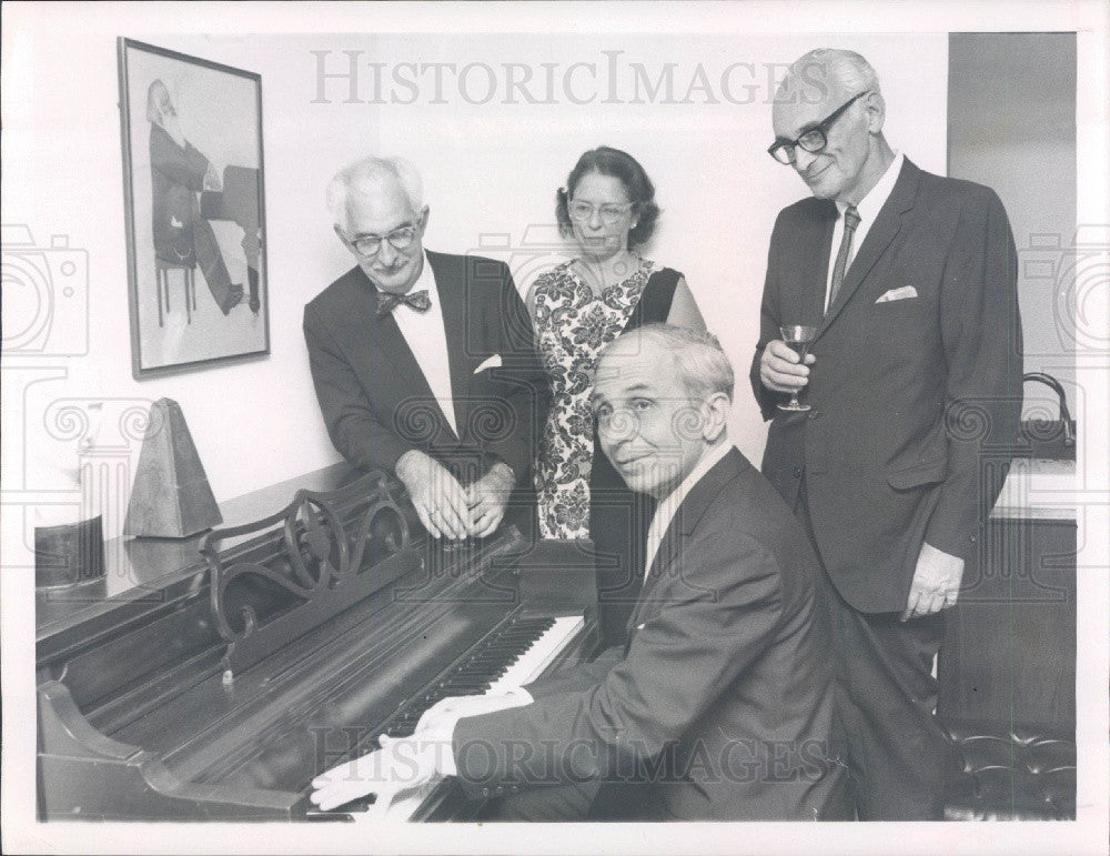1969 St Petersburg FL Chamber Music Society Pianist Edward Kilenyi Press Photo - Historic Images
