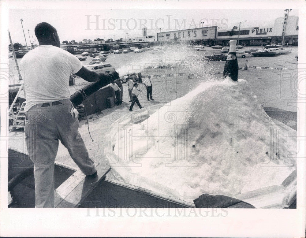 1969 St. Petersburg Florida Central Plaza Center Artificial Iceberg Press Photo - Historic Images