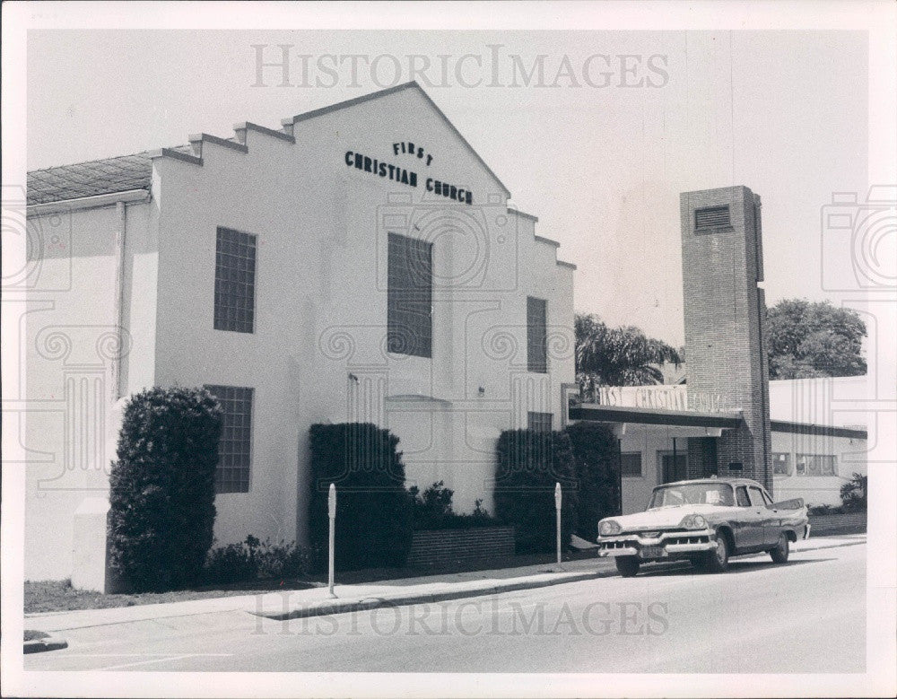 1959 Clearwater Florida First Christian Church Press Photo - Historic Images
