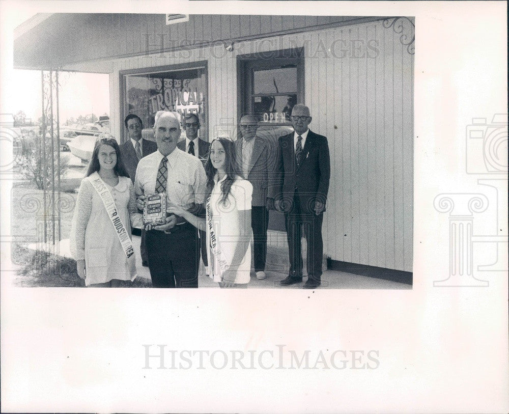 1973 Greater Hudson Area Florida Chamber of Commerce Tropical Realty Press Photo - Historic Images