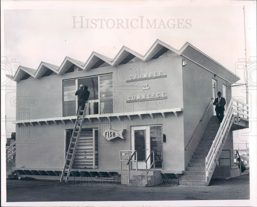 1964 Dunedin Florida Chamber of Commerce Building Press Photo - Historic Images