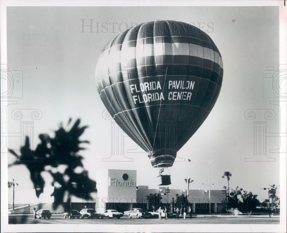 1974 Orlando Florida Pavilion Chamber of Commerce Balloon Press Photo - Historic Images