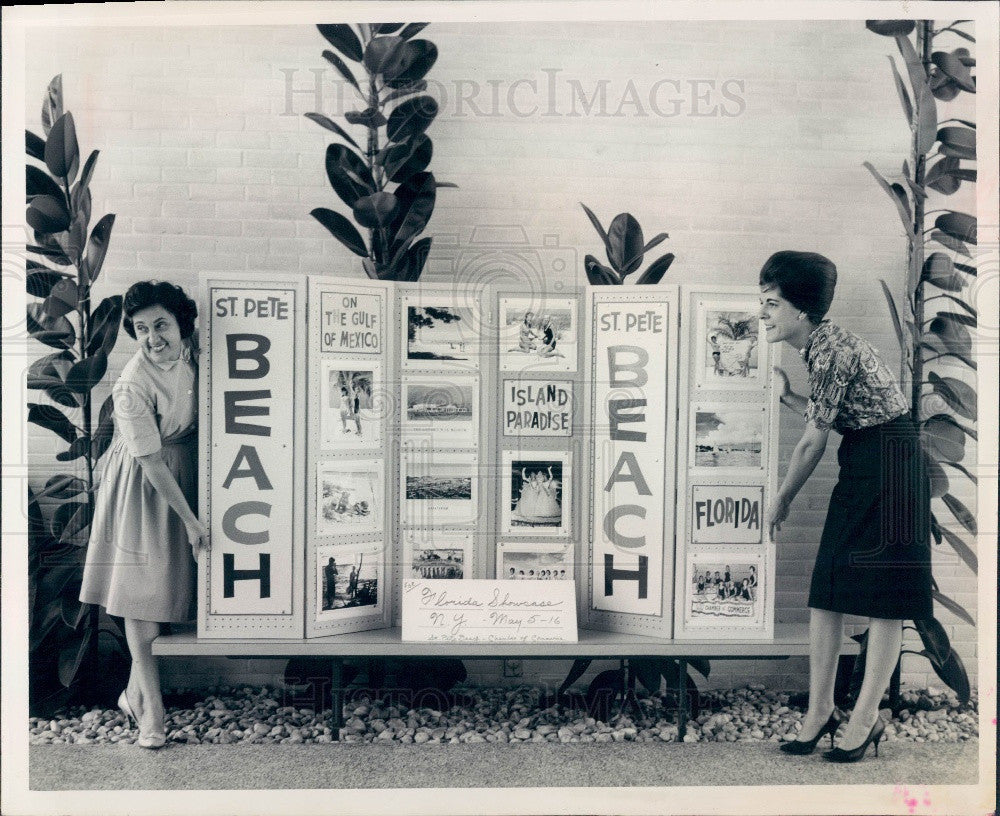 1963 St. Petersburg Beach Florida Chamber of Commerce Exhibit Press Photo - Historic Images