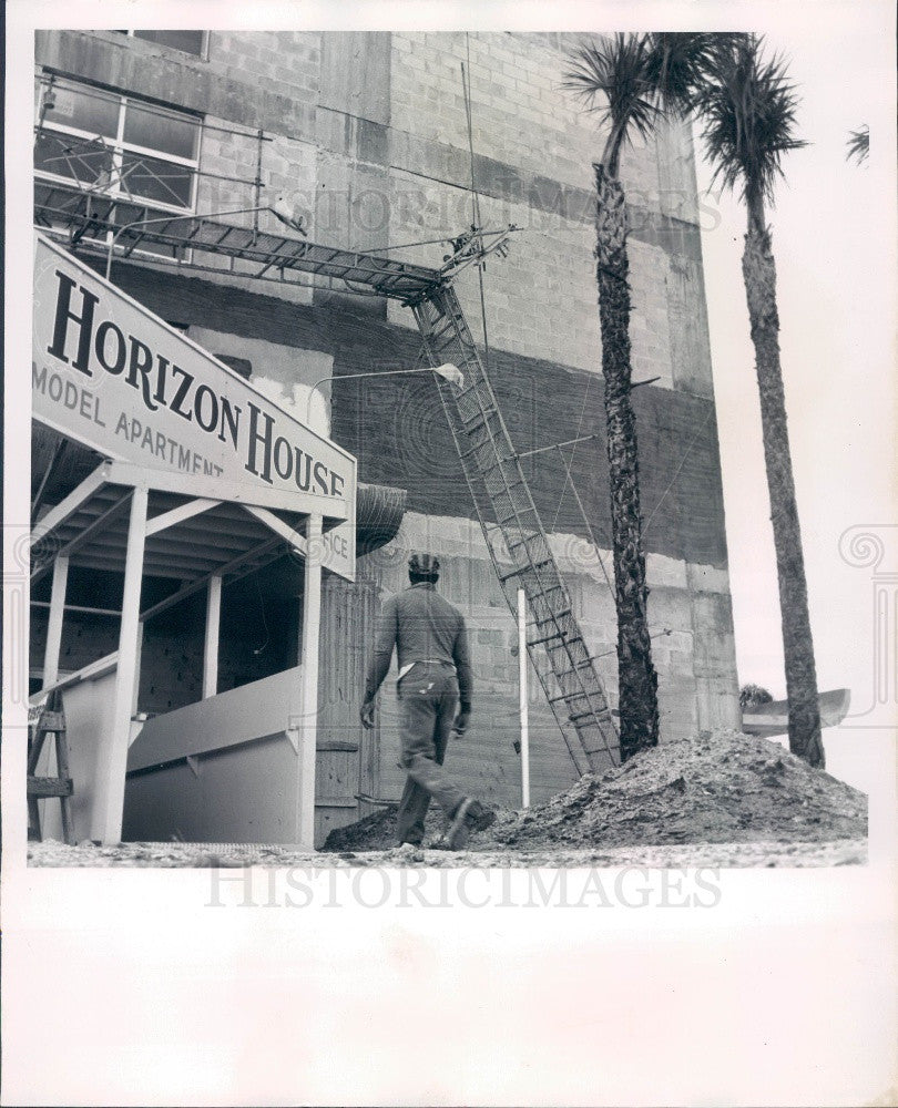 1962 Clearwater FL Island Estates New Horizon House Apt Construction Press Photo - Historic Images