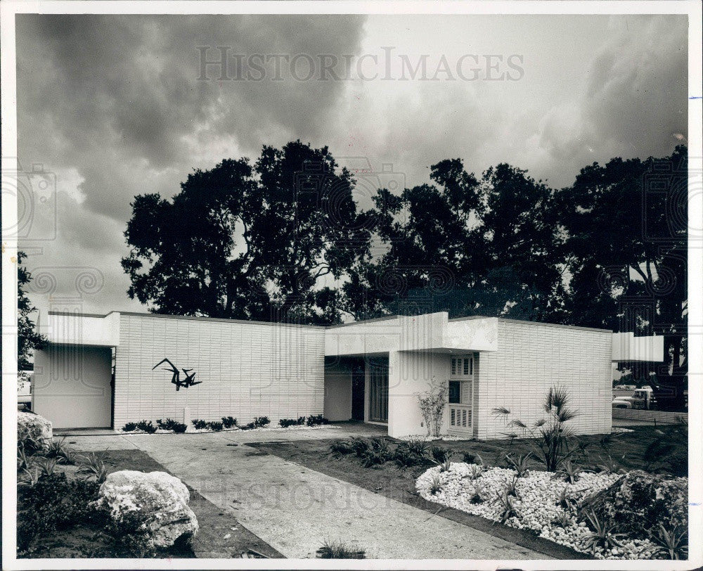 1963 Tampa Florida Horizon Home Concrete Products Press Photo - Historic Images