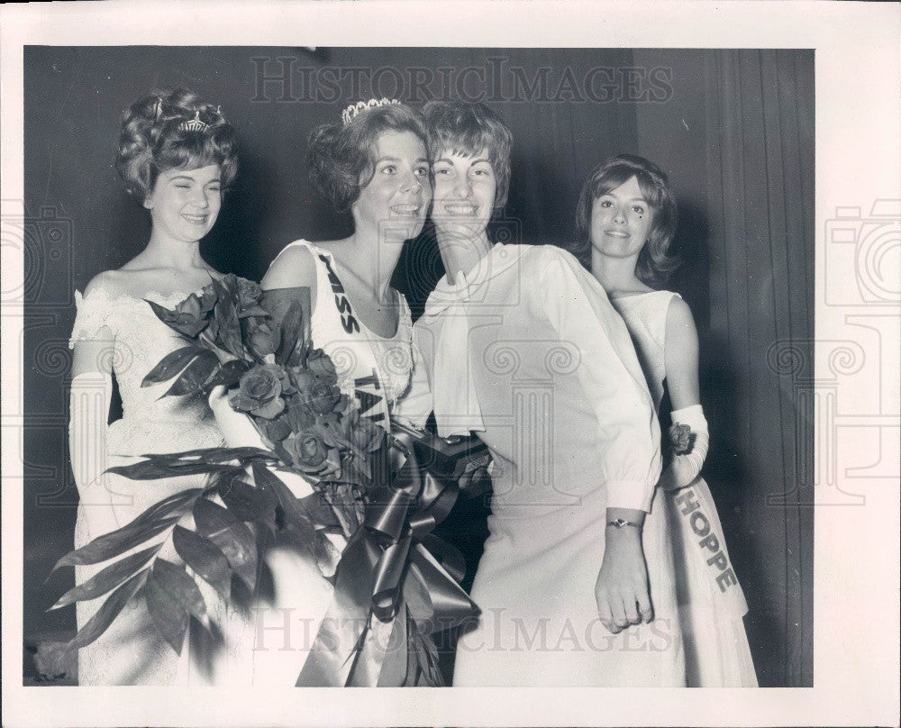 1966 Florida Miss Tallahassee Francis Smith & Patrica Lynn Rucker Press Photo - Historic Images