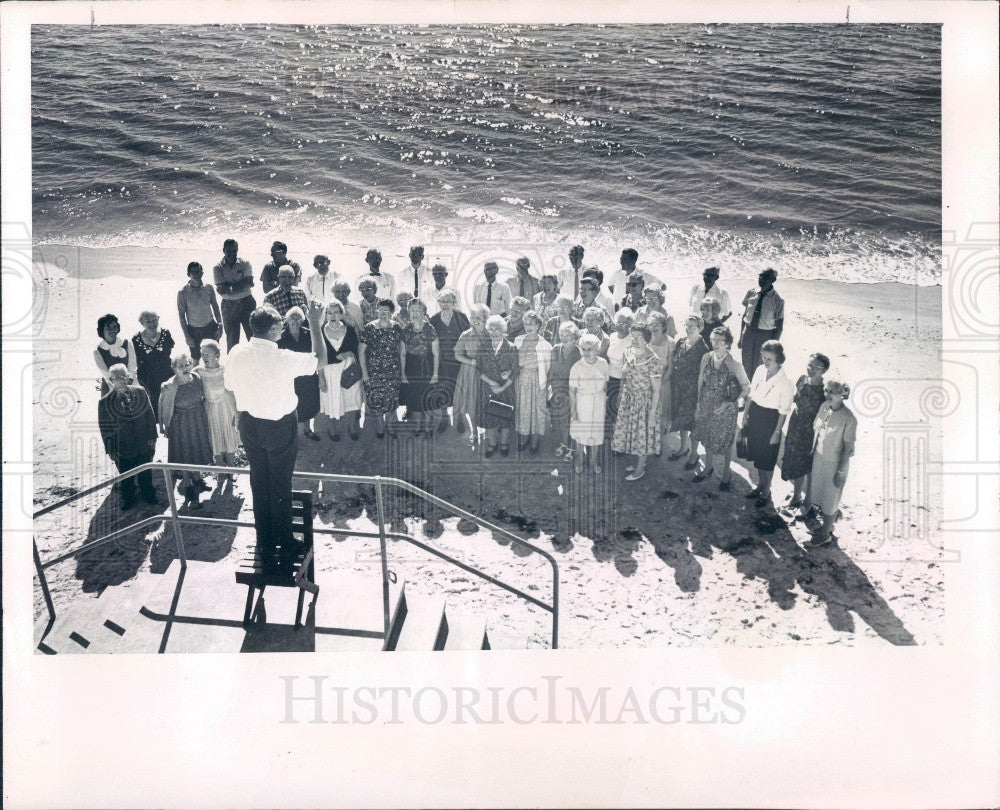 1964 St. Petersburg Florida Christ Methodist Church Adult Choir Press Photo - Historic Images
