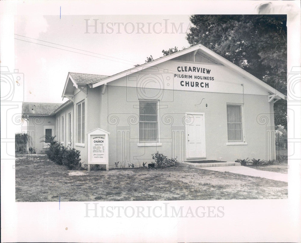 1962 St. Petersburg Clearview Pilgrim Holiness Church Press Photo - Historic Images