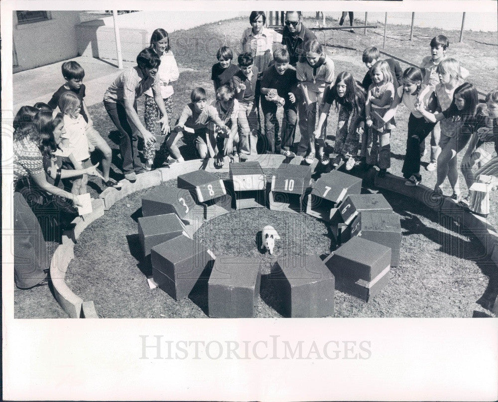 1972 St Petersburg Florida Cathedral of St. Jude Mardi Gras Festival Press Photo - Historic Images