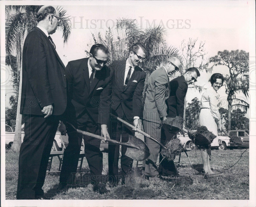 1966 Clearwater Florida Central Church of Nazarene Groundbreaking Press Photo - Historic Images