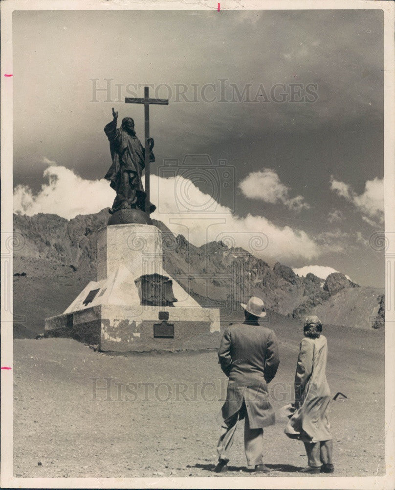 Undated Chile Christ of the Andes Statue Press Photo - Historic Images