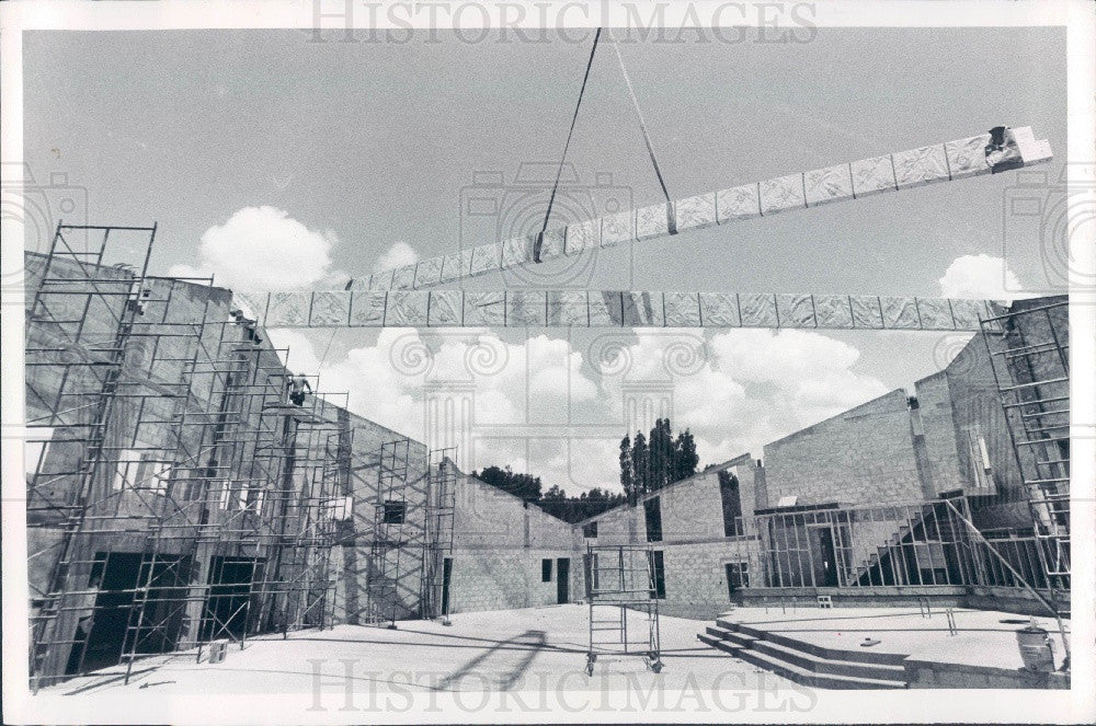 1979 St Petersburg Florida Bethel Community Bapt Church Construction Press Photo - Historic Images