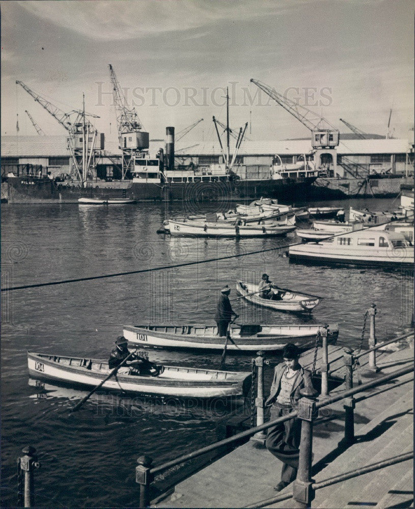 Undated Harbor in Chile Press Photo - Historic Images