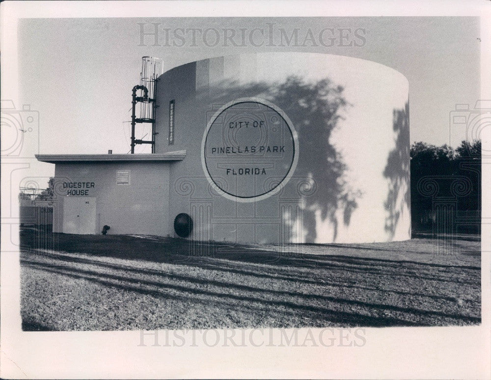 1970 Pinellas Park Florida Sewage Digester House Press Photo - Historic Images