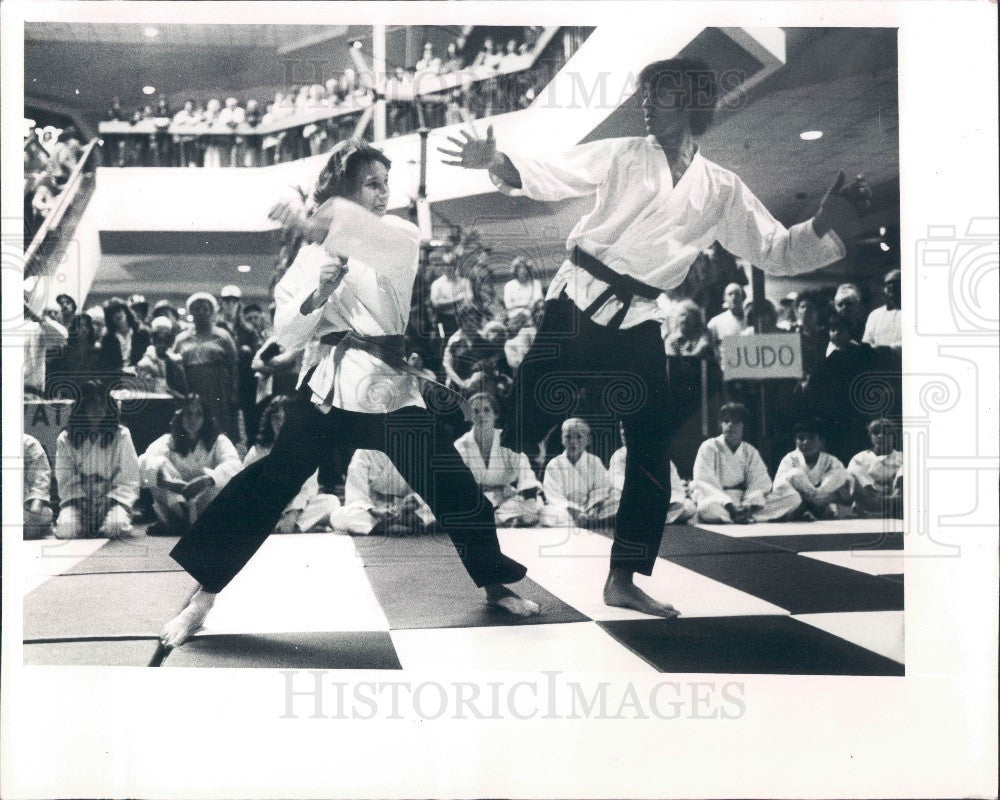 1981 Pinellas Park Florida Recreation Dept Karate Demonstrations Press Photo - Historic Images