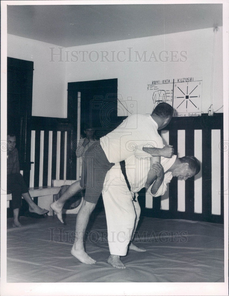 1968 Pinellas Park Florida Police Judo Training Press Photo - Historic Images