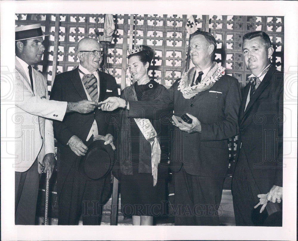1965 Pinellas County Florida Attractions Assoc Miss St Petersburg Press Photo - Historic Images