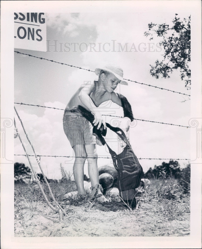 Undated Silver Springs Florida Boyett & Judy the Chimpanzee Press Photo - Historic Images