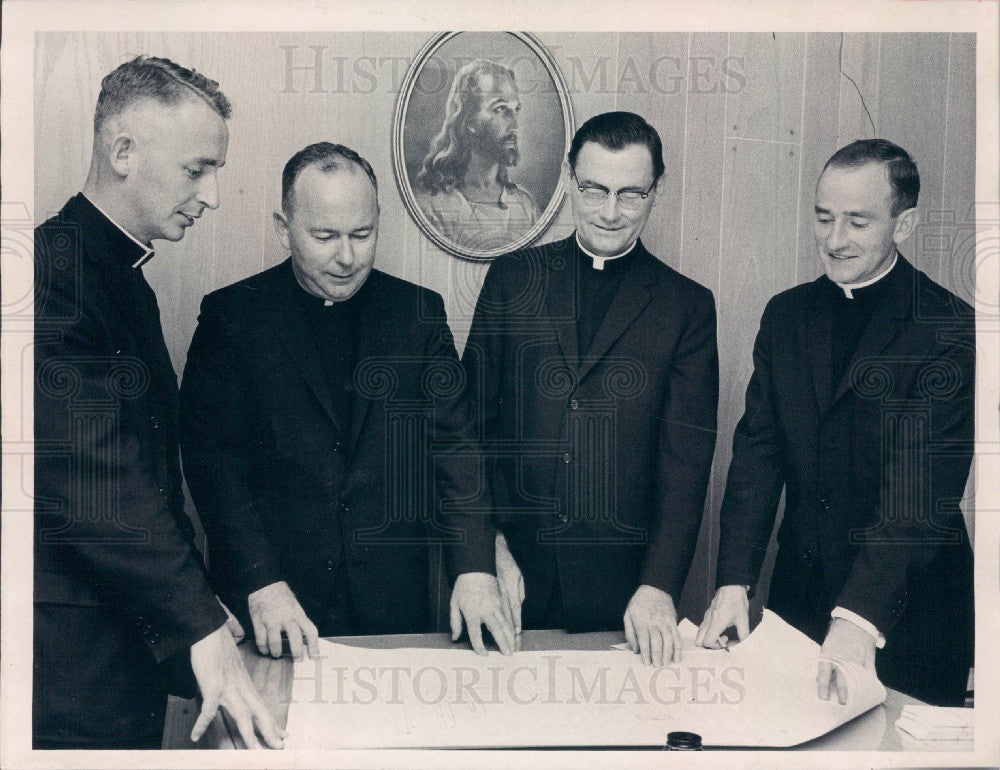 1961 St. Petersburg Florida Priests Lawlor/McNulty/Trainor/Mulligan Press Photo - Historic Images