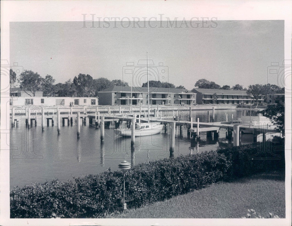 1969 St. Petersburg Florida Carlton Arms Apt Construction Press Photo - Historic Images