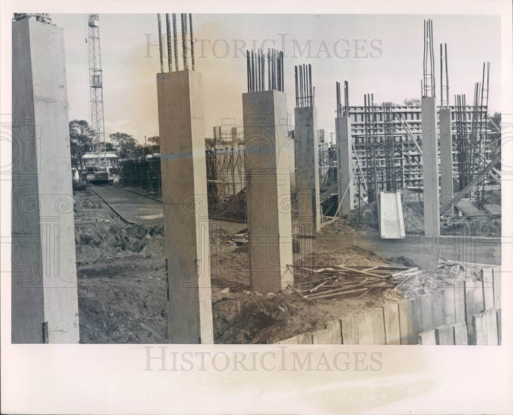 1963 St. Petersburg Florida Carlton Towers Apt Bldg Construction Press Photo - Historic Images