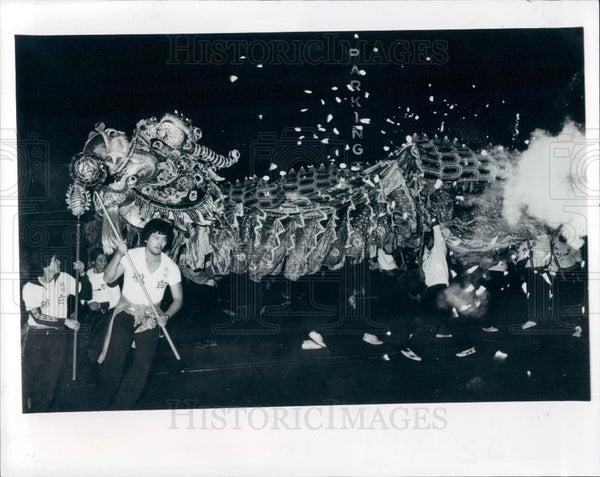 1982 San Francisco CA Chinese New Year Celebration Press Photo - Historic Images