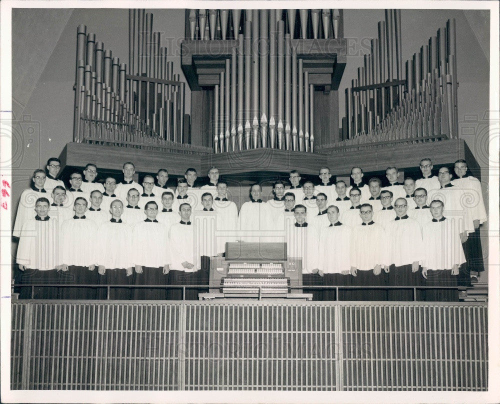 1965 Ft. Wayne Indiana Concordia Senior College Male Chorus Press Photo - Historic Images