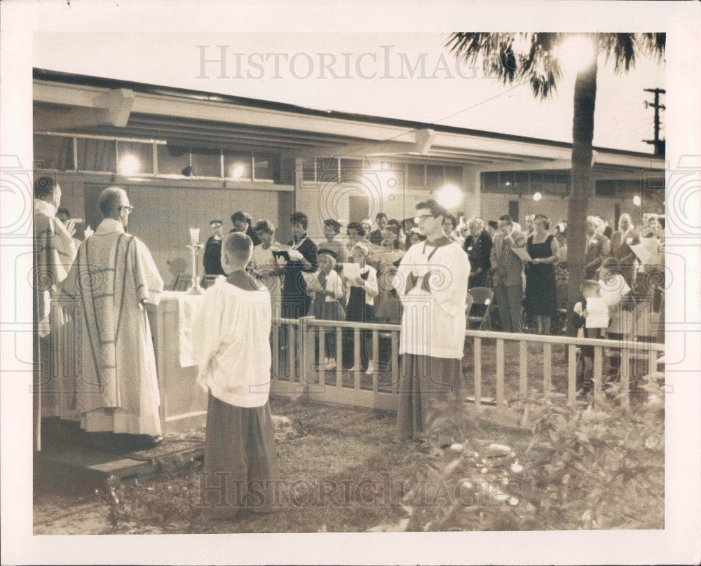 1961 St. Petersburg FL St. Alban's Episcopal Church Eucharist Press Photo - Historic Images