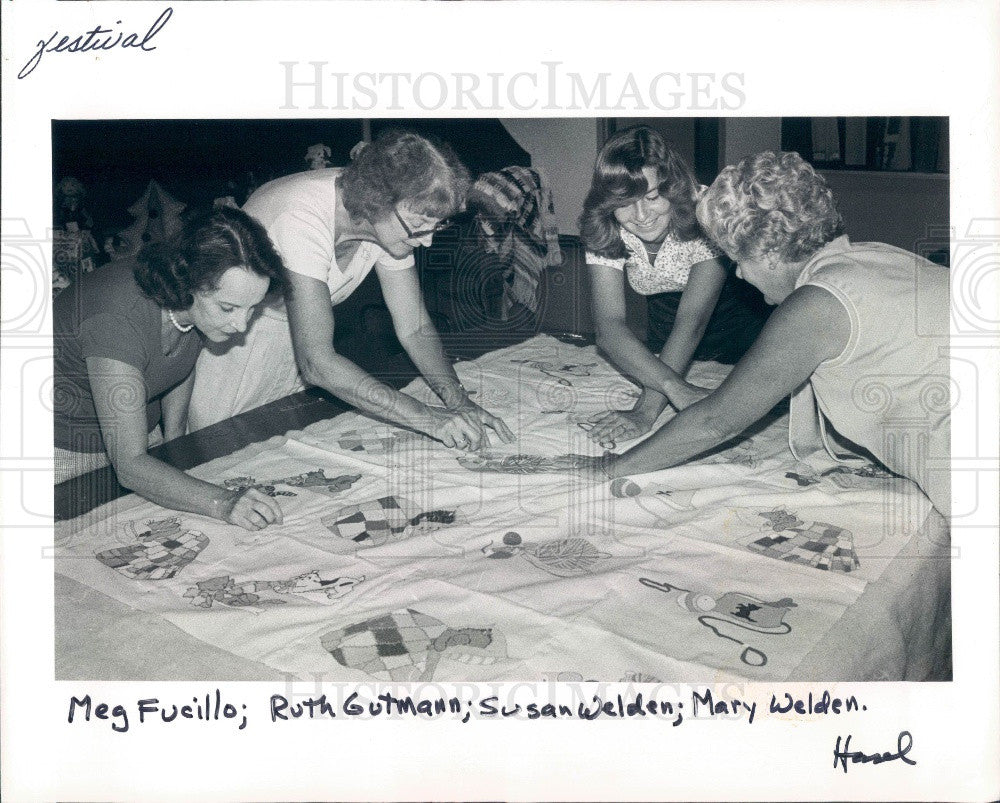 1981 Dunedin FL Embroidery Quilt Our Lady of Lourdes Church Press Photo - Historic Images
