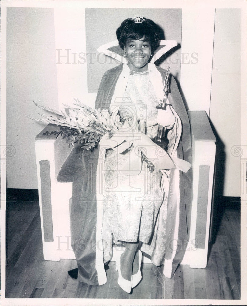 1966 Florida Miss Wildwood Celestine Dorsey Press Photo - Historic Images