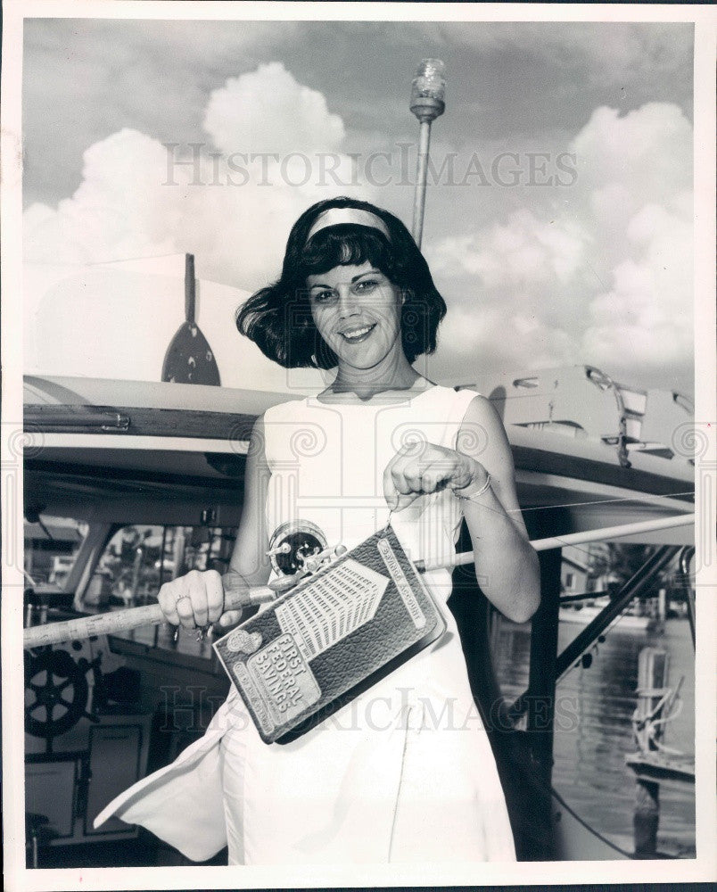 1965 St Petersburg Florida Miss Tarpon Roundup Debbie Williams Press Photo - Historic Images