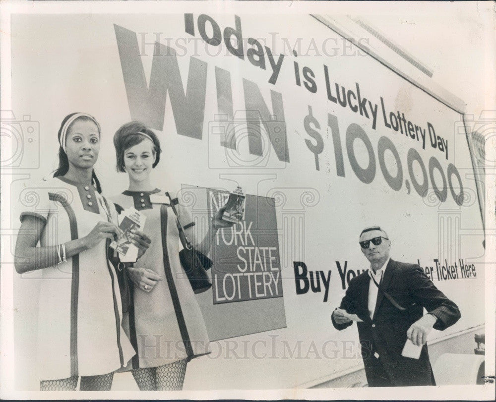 1967 New York City Mayor Lindsay Proclaims Official Lottery Day Press Photo - Historic Images