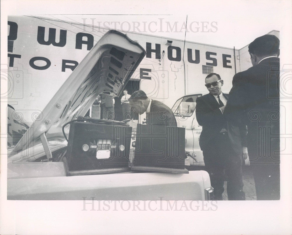 1967 Clearwater Florida Gambling Raid Showing the Machines Brain Press Photo - Historic Images