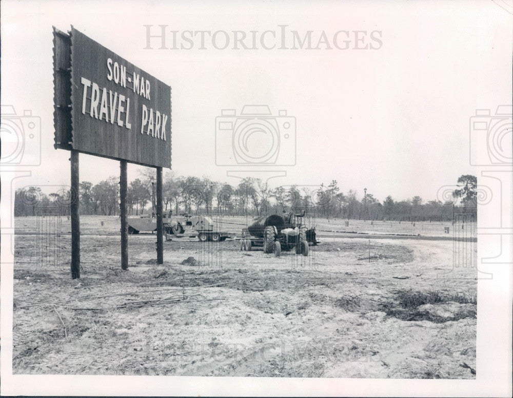 1973 West Pasco Florida Son-Mar Travel Park Press Photo - Historic Images