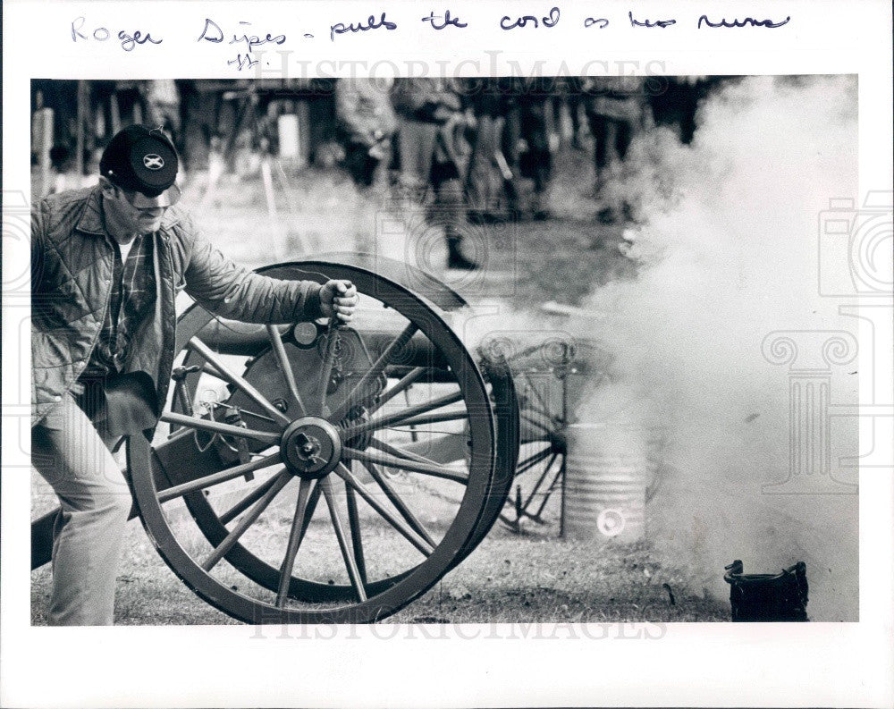 1979 Pasco Florida Civil War Reenactment Southern Artillery Brigade Press Photo - Historic Images