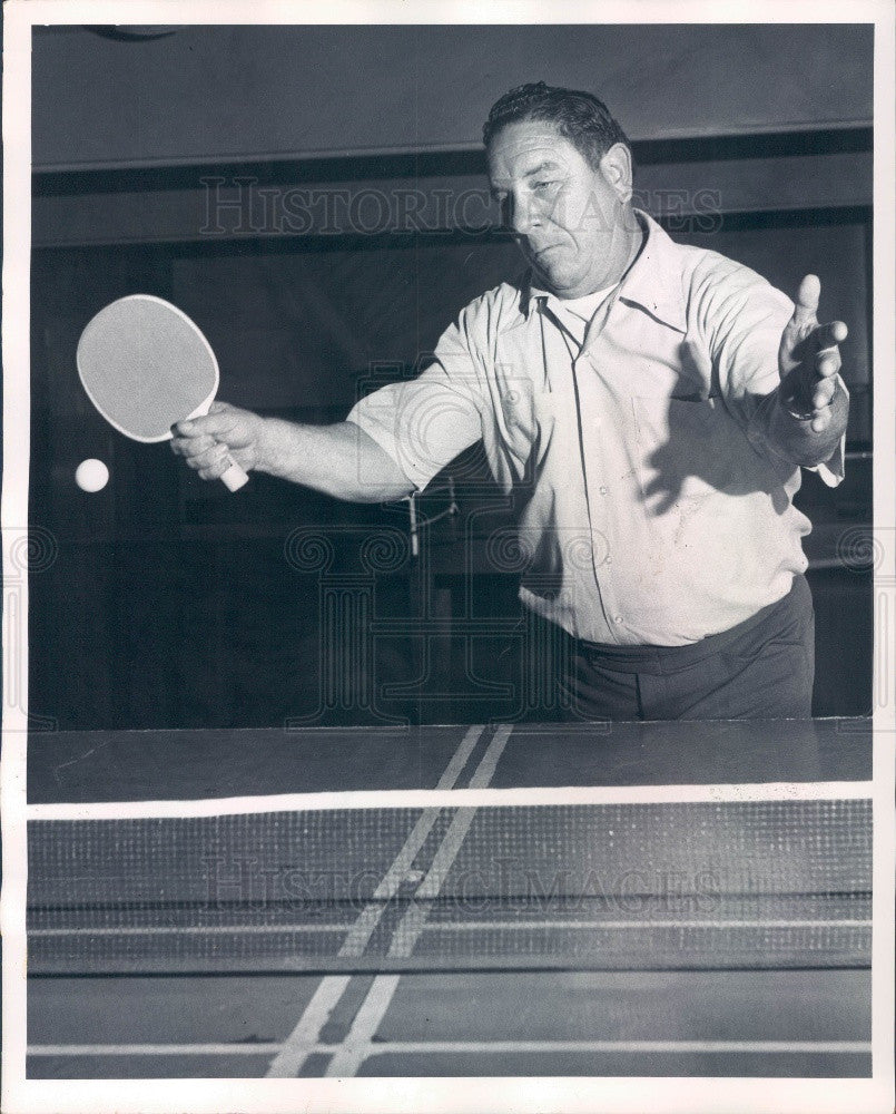 1974 Mr Ping Pong America Bill Shine Demonstrating Forehand Topspin Press Photo - Historic Images