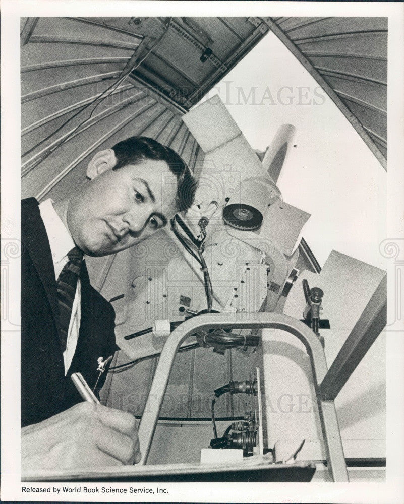Undated Houston Texas Manned Spacecraft Center Solar Telescope Press Photo - Historic Images
