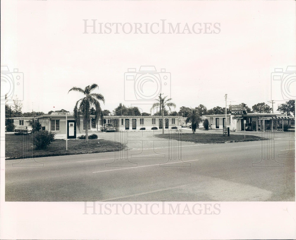 1963 St Petersburg Beach Florida Southwinds Motel Press Photo - Historic Images