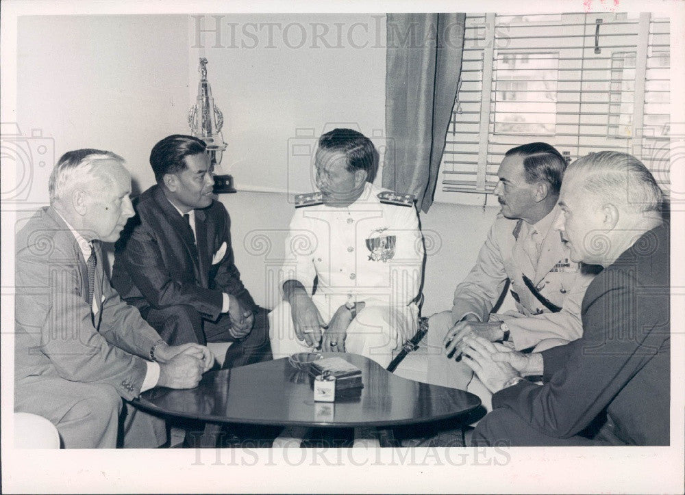 1965 Commander of the United States 7th Fleet Vice Admiral Blackburn Press Photo - Historic Images